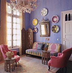 50 Best Moroccan Living Room Decor Ideas - Home Decor & Design Eclectic Living Room, My Living Room, Living Room Designs, Living Spaces, Living Area, Cottage Living, Cozy Living, Bohemian Interior Design, Interior Design Inspiration