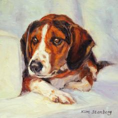 "Custom Pet Portrait Dog Painting Original Oil Painting 8 x 8"" by KimStenbergFineArt on Etsy, $125.00"