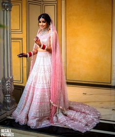 Wedding Lehnga Unique Bridal Lehenga Designs That Is Every Bride's Pick. Find another inspiring photo by clicking on the image or visiting the website. Designer Bridal Lehenga, Bridal Lehenga Images, Pink Bridal Lehenga, Pink Lehenga, Indian Bridal Lehenga, Wedding Lehnga, Pakistani Bridal, Wedding Attire, Lehenga Designs