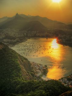 Setting Sun Over Botafogo by AJ Brustein, via Flickr