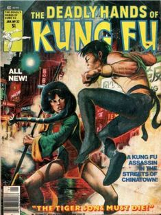 """Early Black Comic Book Heroes: Misty Knight in Deadly Hands of Kung Fu 32 - """"Daughters of the Dragon"""" (Part Comic Book Covers, Comic Book Heroes, Comic Books, Kung Fu, Misty Knight, Deadly, Adventure Magazine, Pulp Magazine, Magazine Covers"""