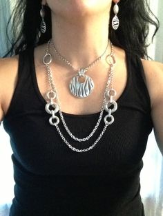 Combo of the day: Runway necklace worn doubled with Zebra enhancer, paired with Zebra earrings. Kathyblingblingboucher.mypremierdesigns.com code:  2013