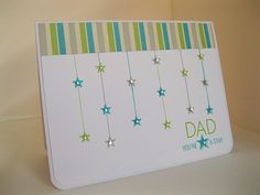 I LOVE the layout of this card. the string stars are so cute!  could use for any occasion