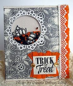 create your everyday: { Impression Obsession DT challenge - Halloween shaker cards }