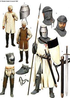 Knights Templar: A #Knight #Templar circa 1290.
