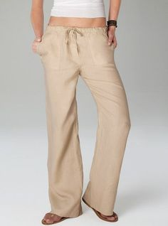 linen drawstring pants -