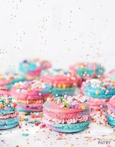 Fun Unicorn Macarons for Bridal Shower Dessert - Bridal Shower Dessert Ideas - Bachelorette Party Treat Ideas {Southern Fatty}