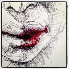 Biro Lips drawing by Olivier Fischer Biro Drawing, French Girls, Girl Face, Creative Inspiration, Art Photography, Lips, Drawings, Year 9, Illustration