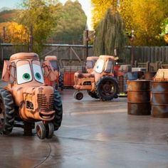 Cars Land.. Tractor Tippin :)