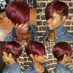 2016 Fashion Hair Style Red Pixie Hair,Short Straight Hair Extension With Free Shipping ,Short Bob Hair For Women Cheap Price