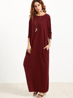 906ee5e4344 Shop Pocket Side Dolman Sleeve Cocoon Dress online. SheIn offers Pocket  Side Dolman Sleeve Cocoon