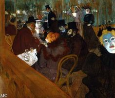 """AT THE MOULIN ROUGE"" BY TOULOUSE-LATREC (1892) IS IN THE ART INSTITUTE OF CHICAGO"