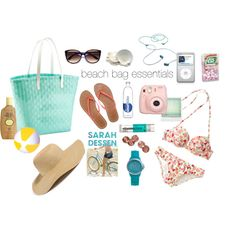 """""""Beach Bag Essentials"""" by abbybauer on Polyvore"""