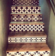 Spanish Style Tiled Stair Risers, Remodelista