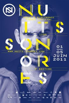 Visual identity and communication campain of Nuits Sonores festival's 9th edition. Work from Superscript²