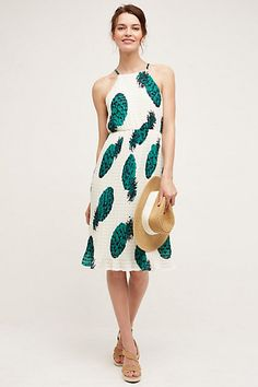 Pineapple Midi Dress #anthropologie