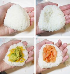 Amanda k. by the Bay: Japanese Onigiri - Appetizers - Bento Ideas Bento Recipes, Cooking Recipes, Cooking Tips, Cute Food, Yummy Food, Japanese Dishes, Japanese Lunch Box, Japanese Rice, Oriental Food