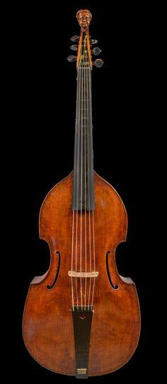 Late Seventeenth Century Italian Viola Da Gamba. This and more rare musical instruments on CuratorsEye.com