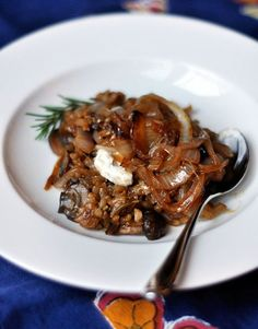 #Recipe: Baked Mushroom Risotto with Caramelized Onions