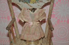 Tiny factory antique doll dress for all bisque ~ mignonette by bebesandbruins on Etsy