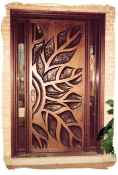 Are you looking for best wooden doors for your home that suits perfectly? Then come and see our new content Wooden Main Door Design Ideas. Cool Doors, The Doors, Unique Doors, Entrance Doors, Windows And Doors, Barn Doors, Doorway, Panel Doors, Exterior Windows