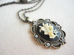 Victorian Cameo Necklace  Victorian Inspired Vintage by Madryl, $22.00