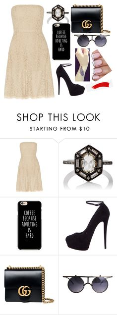 """""""Sin título #3762"""" by onedirection-h1n1l2z1 on Polyvore featuring Belleza, Diane Von Furstenberg, Cathy Waterman, Giuseppe Zanotti y Gucci"""