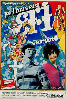 Un #Cartel de #Publicidad de Crilenka. Propaganda del #Año1968