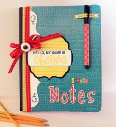 "This great for keeping track of your notebooks for class. But instead of putting ""Hi my name is...   Maybe put like English and then keep the notes, this is such a good idea"