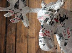 Paper mache Deer