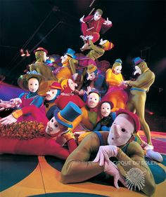 Cirque du Soleil. Masks are creepy, but there are my colors again!