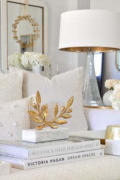 Beautiful Neutral Sofa Pillows Gold Accessories Home Decor Decorative Living Room