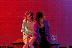 San Junipero by vashperado Black Mirror San Junipero, Mackenzie Davis, 80s Aesthetic, Mirror Painting, Movies Showing, Gay Pride, Cute Art, Lgbt, Lesbian