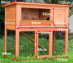 Easy to Build Rabbit Hutch | LARGE RABBIT HUTCH GUINEA PIG CAGE w Plastic tray!