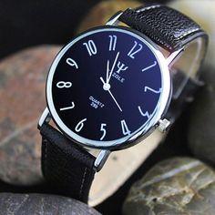 Yazole 299 Business Quartz Watch with Leather Band for Men Cheap Watches For Men, Mens Watches For Sale, Digital Wrist Watch, Business Fashion, Business Style, Watch Sale, Leather Men, Leather Fashion, Men Fashion