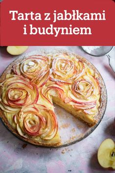 Pin by Marzena on Pyszne ciasta Apple Rose Tart, Apple Pie, Polish Recipes, Cake Recipes, Good Food, Food And Drink, Sweets, Cookies, Baking