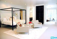 Rachel Zoe's Bedroom-Adore Missoni bedding and how light & bright it is