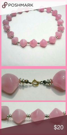 Vintage Pink Beaded Necklace Vintage Pink Beaded Necklace - Pretty vintage necklace with unique baby pink beads. Excellent condition from 60's - 70s era. Vintage Jewelry Necklaces