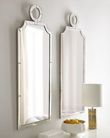 """""""Cavallini"""" Mirror - Horchow from Horchow. Saved to Where The Heart Is. Shop more products from Horchow on Wanelo. Mirror Inspiration, Bathroom Inspiration, Double Mirror, Mirror Photo Frames, Floor Mirror, Mirror Mirror, Mirrored Nightstand, Dining Room Walls, Mirror With Lights"""