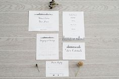 Simple, modern black and white wedding stationery. | Divergent Wedding Inspiration via @artfullywed