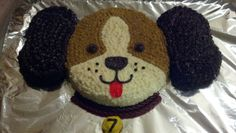 Puppy cake- big brother decided he wanted one too! Puppy Birthday Cakes, Fish Cake Birthday, Puppy Birthday Parties, Puppy Party, Dog Birthday, Birthday Party Decorations, Puppy Dog Cakes, Dog Cupcakes, Second Birthday Ideas
