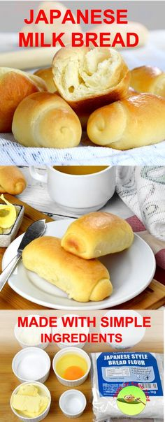 This recipe shows you how to make Japanese milk bread (Hokkaido milk bread) the softest bread you can get- with detail explanation, video demonstration and Japanese bread recipe. Milk Recipes, Gourmet Recipes, Bread Recipes, Baking Recipes, Dessert Recipes, Soft Milk Bread Recipe, Soft Buns Recipe, Baking Desserts, Cupcake
