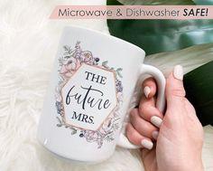 Future mrs mug Engaged mug Future Mrs. Coffee Mug bride image 0 Perfect Bride, Coffee Mugs, Bridesmaid, Etsy Shop, Maid Of Honour, Coffee Cups, Coffee Cup