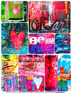 happy LOVE day & FREE art journaling download! - creativityUNLEASHED by traci bautista