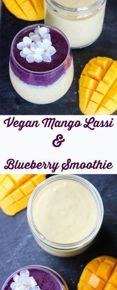 vegan mango lassi & blueberry smoothie | apolloandluna.com