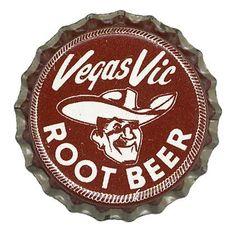 Vegas Vic Root Beer Bottle Cap Images