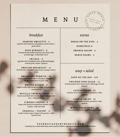 Restaurant Menu Design Minimal Cafe Menu Design Trendy Food Menu Cafe Branding Black and White Menu Sheet Menu for Cafe Coffee Menu. Menu Restaurant Design, Carta Restaurant, Cafe Menu Design, Food Menu Design, Restaurant Menu Template, Restaurant Branding, Restaurant Recipes, Menu Board Design, White Restaurant
