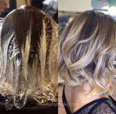Blonde in dark hair