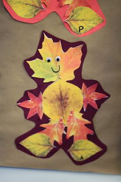 Leaf Man- Students go on a leaf hunt after reading Leaf Man by Lois Ehlert and then make their very own leaf man.