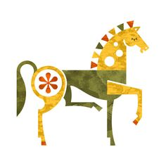 Horse print by Ty Wilkins - Art Prints - Gallery Horse Illustration, Horse Print, Fox Print, Barn Quilts, Grafik Design, Art Design, Geometric Art, Fabric Painting, Indian Art